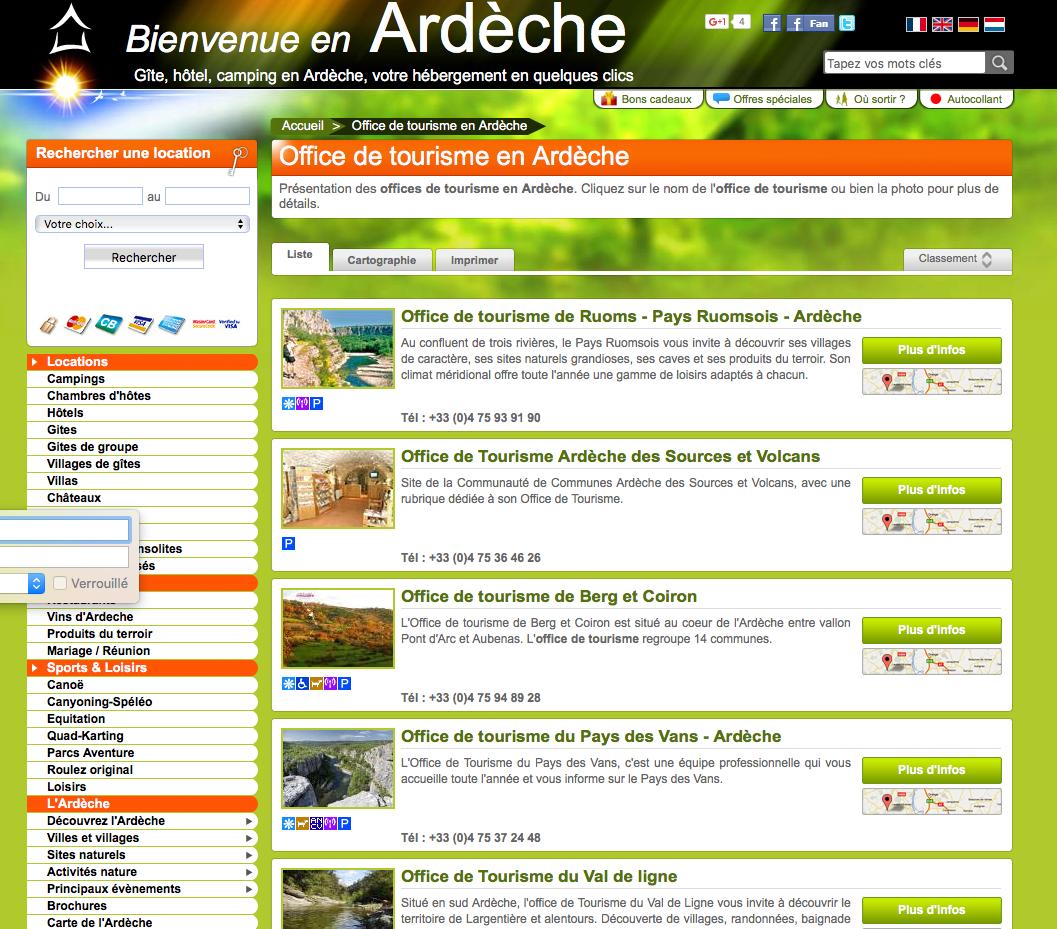 Office du Tourisme Ardèche